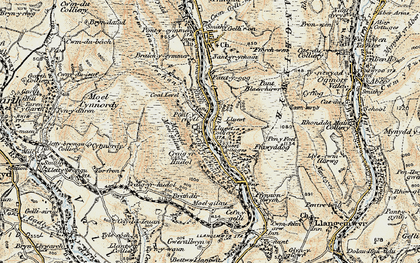 Old map of Pont-y-rhyl in 1900