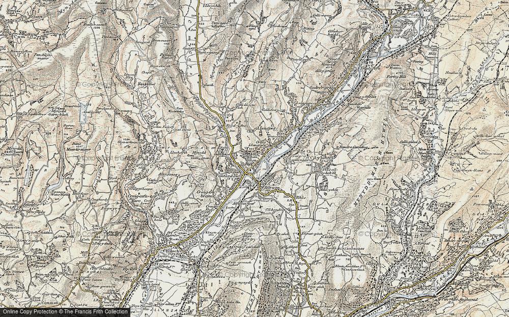 Old Map of Pontardawe, 1900-1901 in 1900-1901
