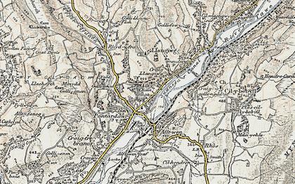 Old map of Pontardawe in 1900-1901
