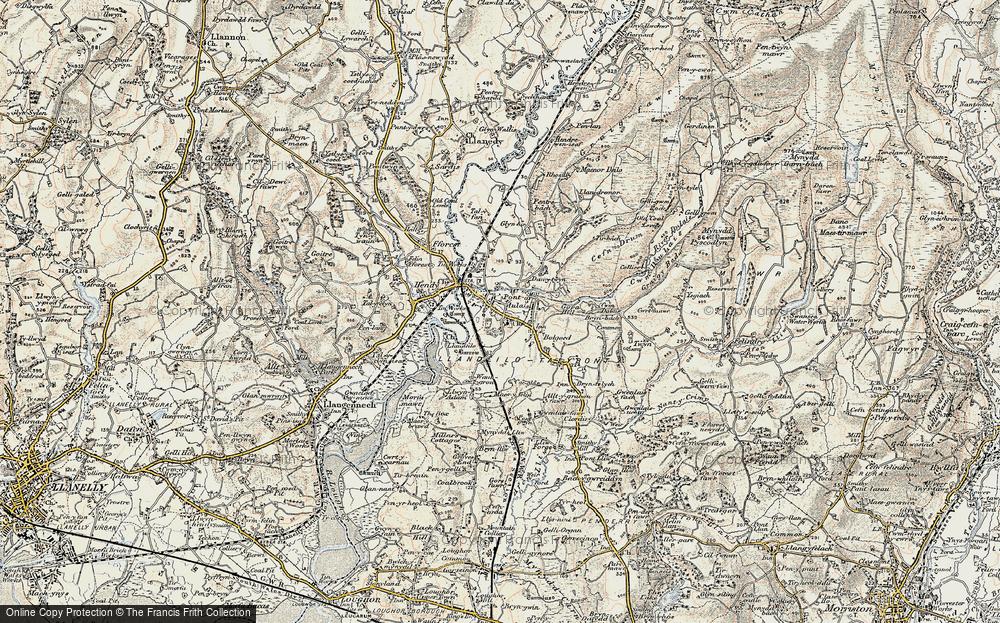 Old Map of Pontarddulais, 1900-1901 in 1900-1901