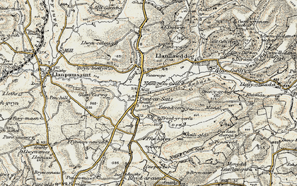 Old map of Allt y Bwbach in 1901