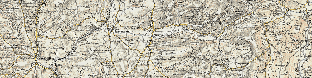 Old map of Ystradcorrwg in 1901