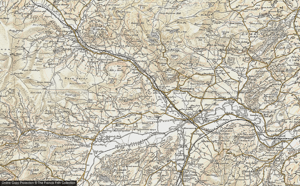 Old Map of Historic Map covering Alltwnnog in 1902-1903
