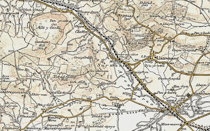 Old map of Alltwnnog in 1902-1903