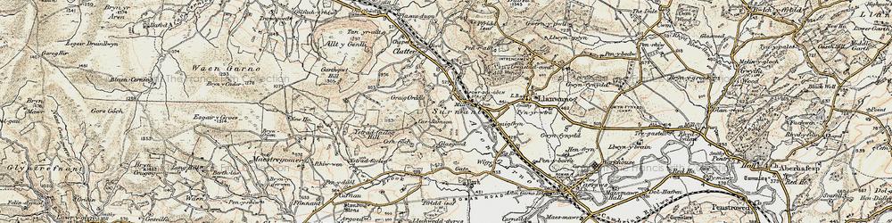 Old map of Alltwnnog in 1902-1903