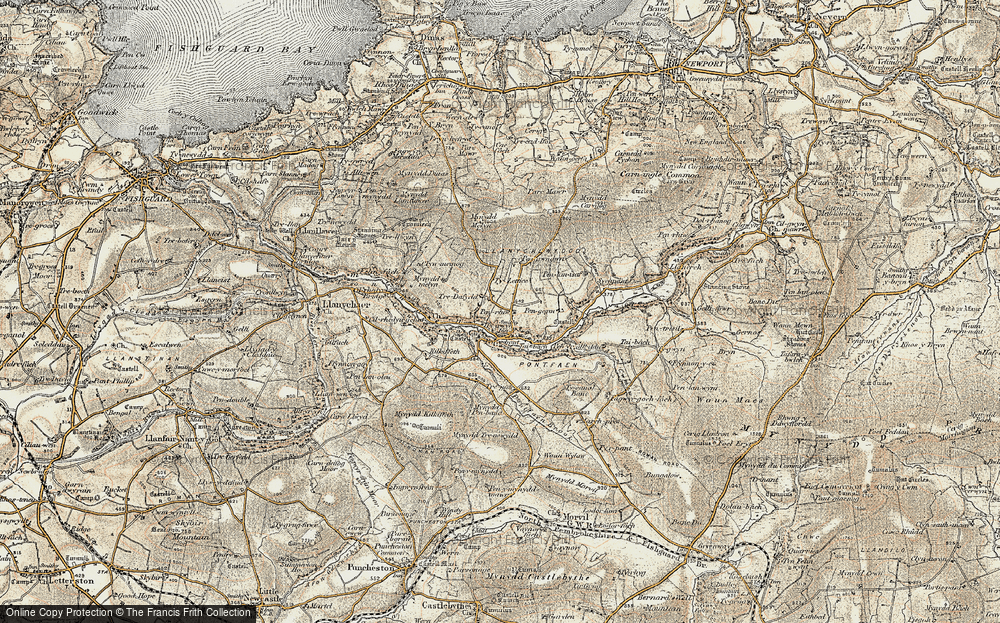 Old Map of Historic Map covering Afon Gwaum in 1901-1912
