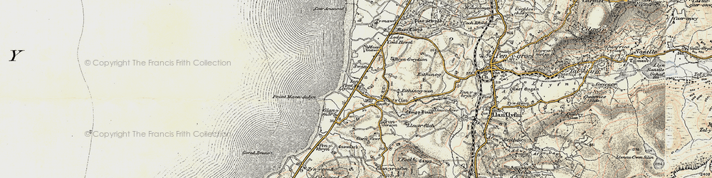 Old map of Pontllyfni in 1903