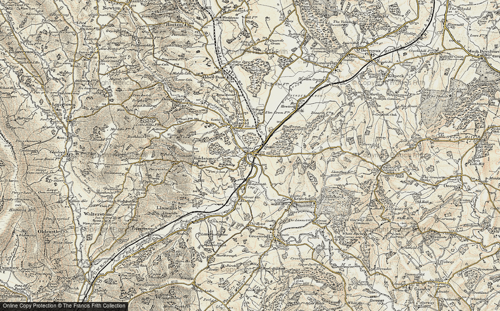 Old Map of Pontrilas, 1900 in 1900