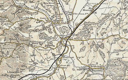 Old map of Pontrilas in 1900