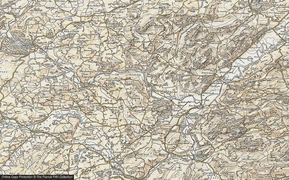 Old Map of Pontrobert, 1902-1903 in 1902-1903