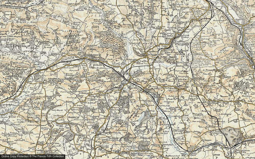Old Map of Pontyclun, 1899-1900 in 1899-1900