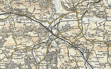 Old map of Pontyclun in 1899-1900