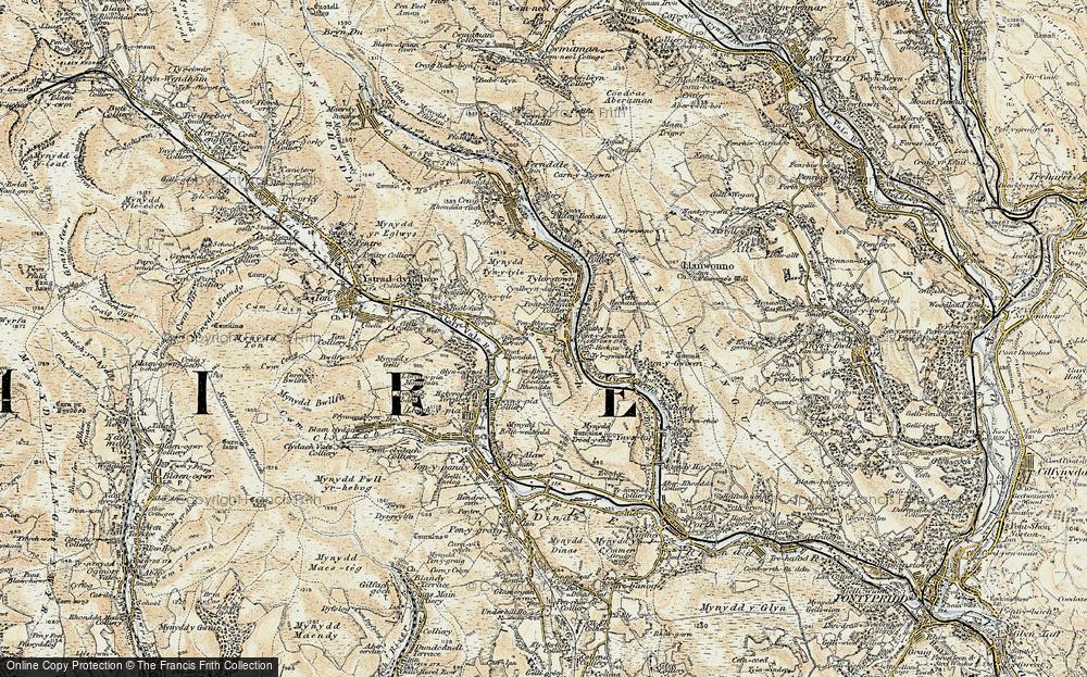 Old Map of Pontygwaith, 1899-1900 in 1899-1900
