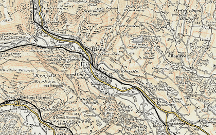 Old map of Pontymister in 1899-1900