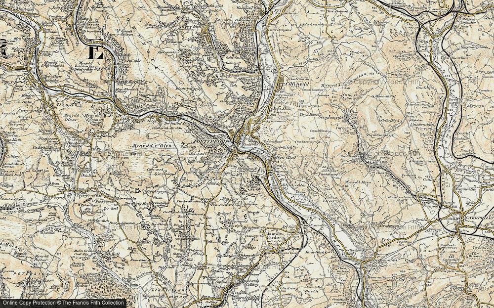 Old Map of Pontypridd, 1899-1900 in 1899-1900