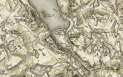 Old map of Tollie Bay in 1908-1910