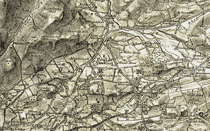 Old map of Leys, The in 1904-1908