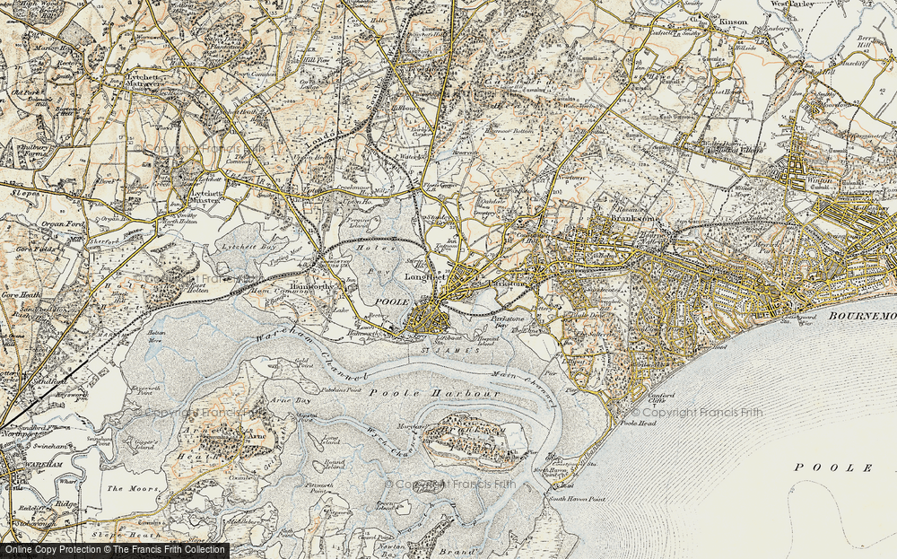 Old Map of Poole, 1899-1909 in 1899-1909