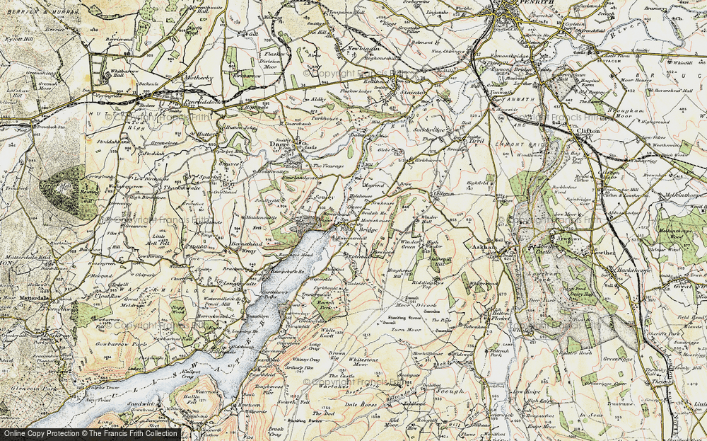 Old Map of Historic Map covering Aik Beck in 1901-1904