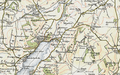 Old map of Aik Beck in 1901-1904