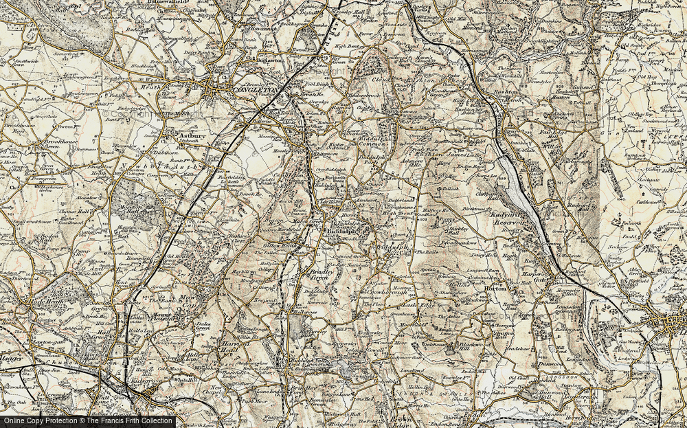 Old Map of Historic Map covering Woodhouse in 1902-1903