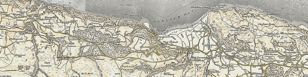 Old map of Whit Stones in 1900