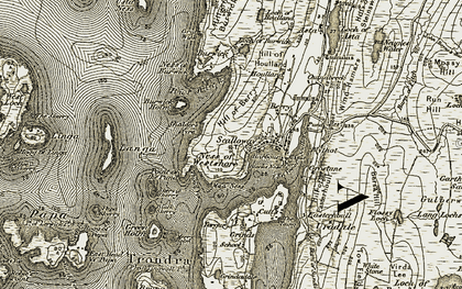 Old map of Langa in 1911-1912