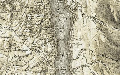 Old map of Allt Airigh na Sròine in 1905-1907
