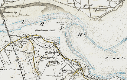 Old map of Port Carlisle in 1901-1904