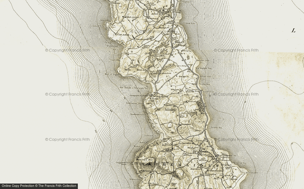Old Map of Historic Map covering Auchabreck in 1905