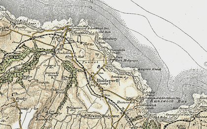 Old map of Lingrow Knock in 1903-1904