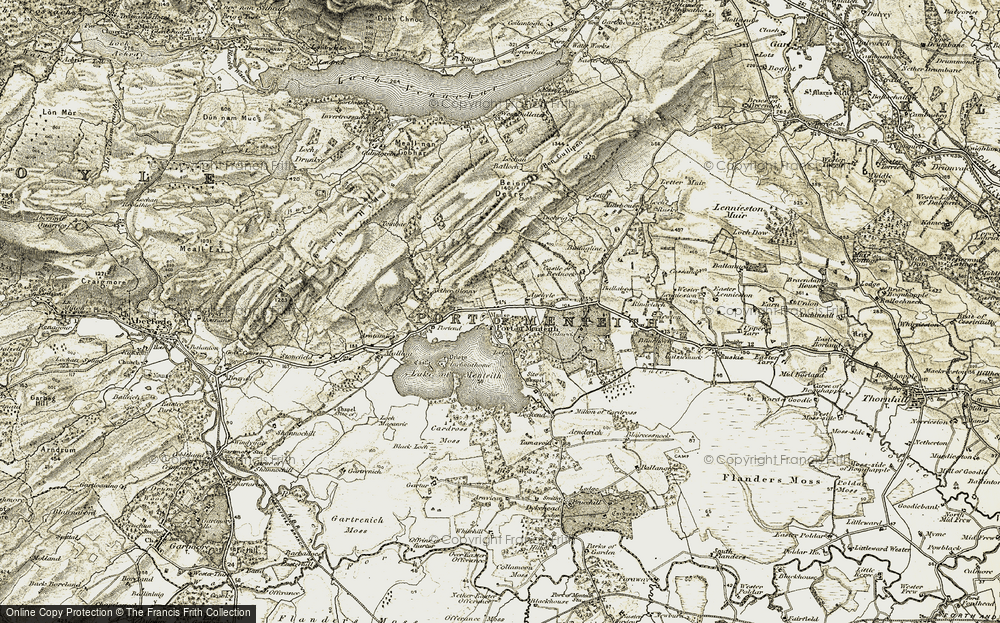 Old Map of Historic Map covering Auchyle in 1904-1907