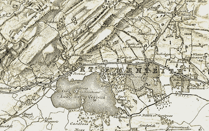 Old map of Port of Menteith in 1904-1907