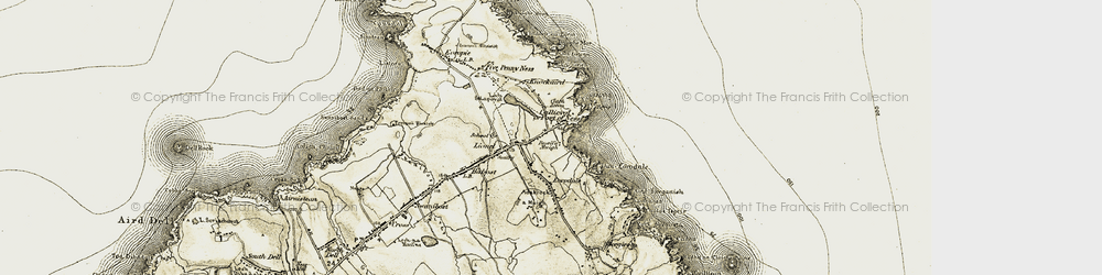 Old map of Port of Ness in 1911