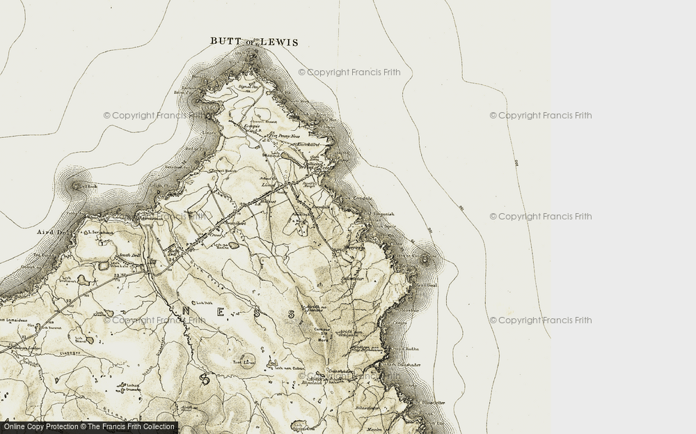 Old Map of Historic Map covering Àird Sgeginis in 1911