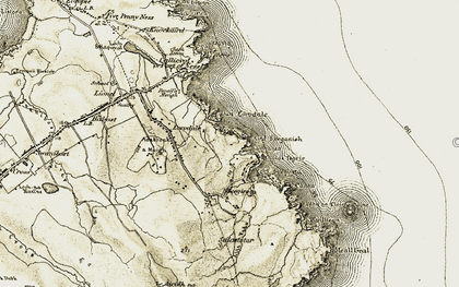 Old map of Àird Sgeginis in 1911