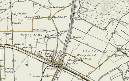 Old map of Wingland Marsh in 1901-1902