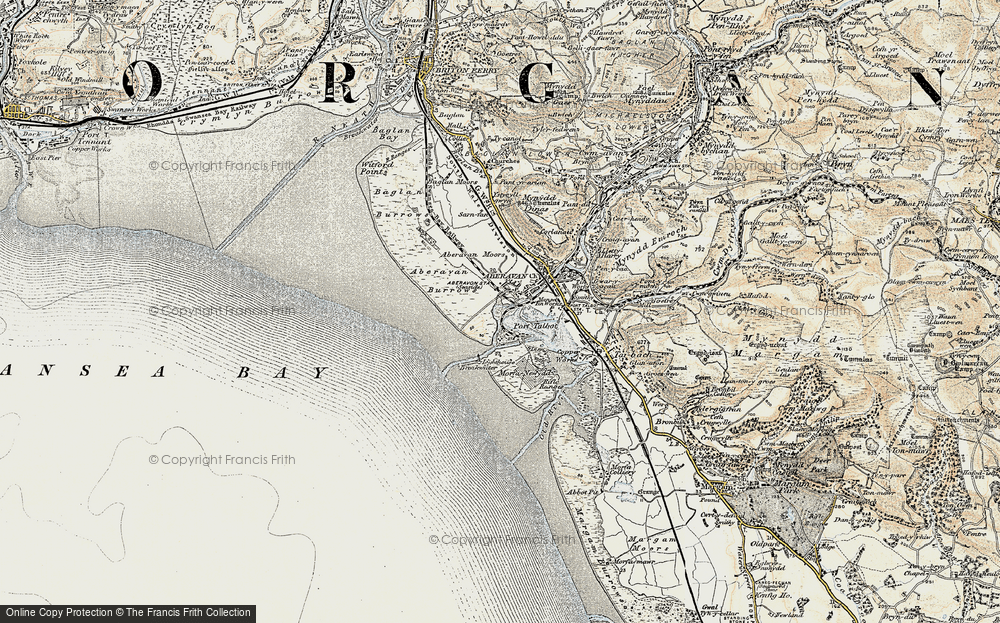 Old Map of Port Talbot, 1900-1901 in 1900-1901