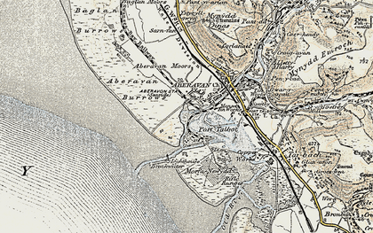 Old map of Port Talbot in 1900-1901