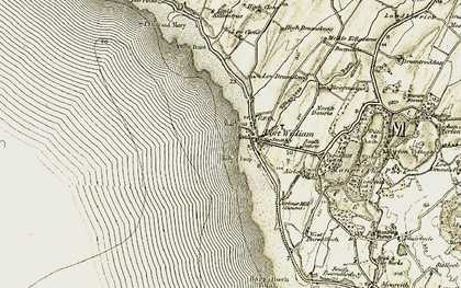 Old map of Airlour in 1905