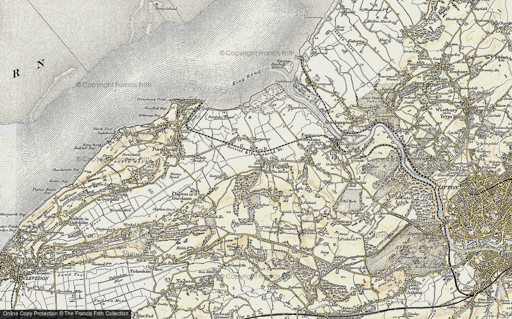 Old Map of Portbury, 1899 in 1899