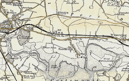 Old map of Portchester in 1897-1899