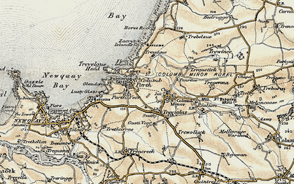 Old map of Porth in 1900
