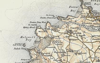 Old map of Porth Joke in 1900