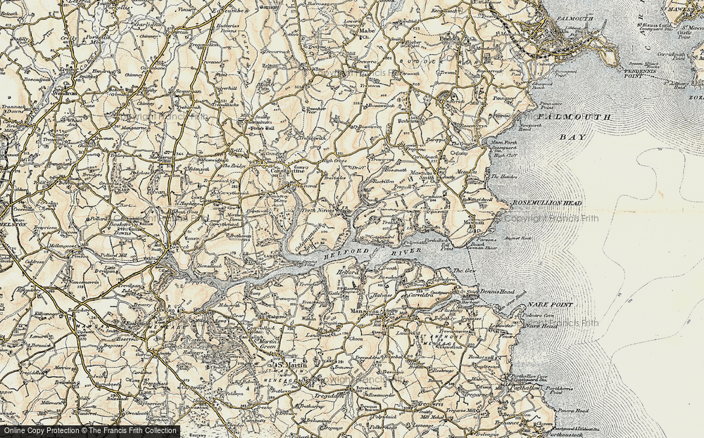 Old Map of Porth Navas, 1900 in 1900