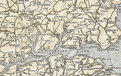 Old map of Port Navas in 1900