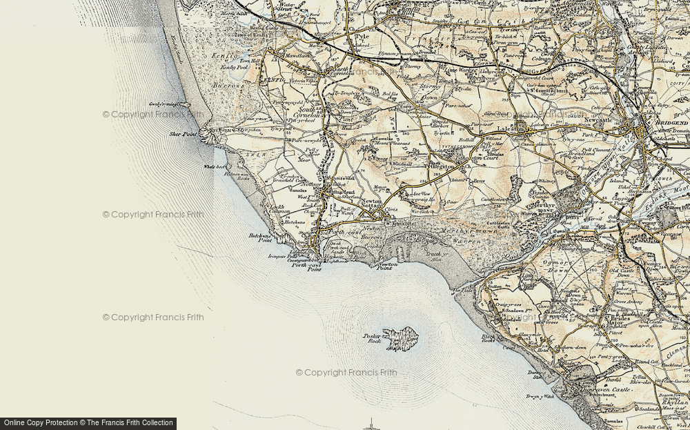Old Map of Porthcawl, 1900-1901 in 1900-1901