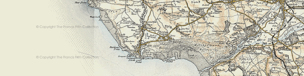Old map of Porthcawl in 1900-1901