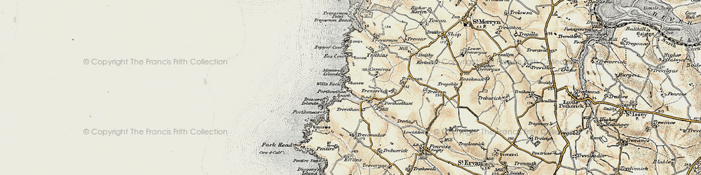 Old map of Will's Rock in 1900