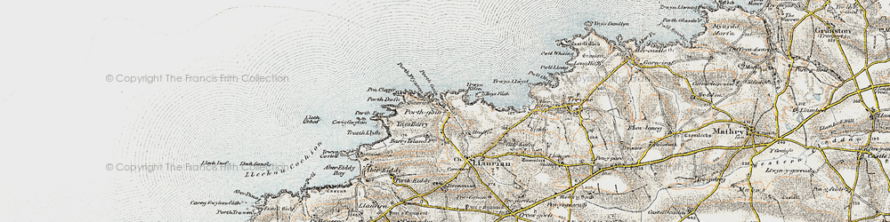 Old map of Porthgain in 0-1912
